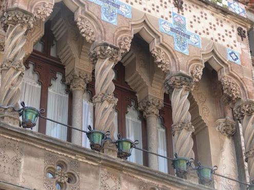 La façana de la Casa Coll i Regàs